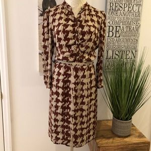 Burberry Brit Silk Sienna & Oatmeal Shirt Dress